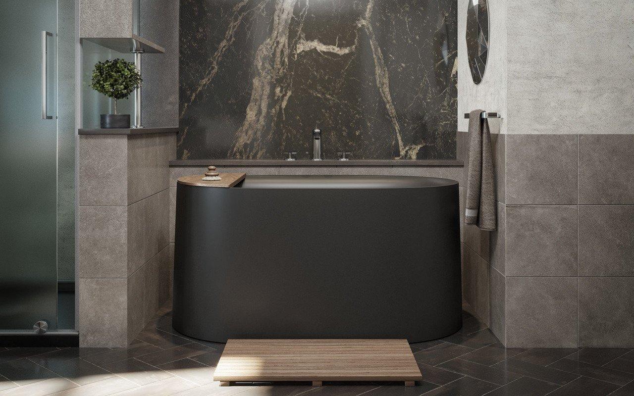 Aquatica Sophia-Black Freestanding Solid Surface Bathtub - Fine Matte picture № 0