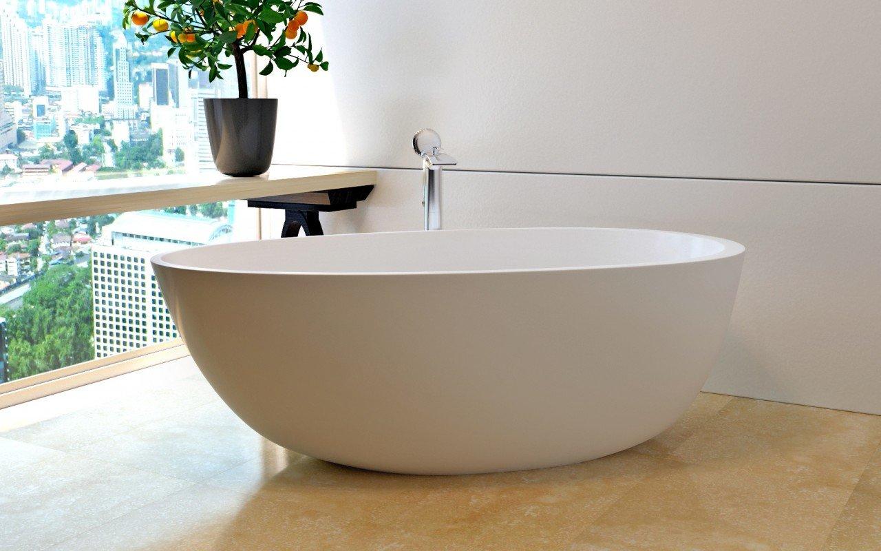Spoon 2 Freestanding Solid Surface Bathtub (1)