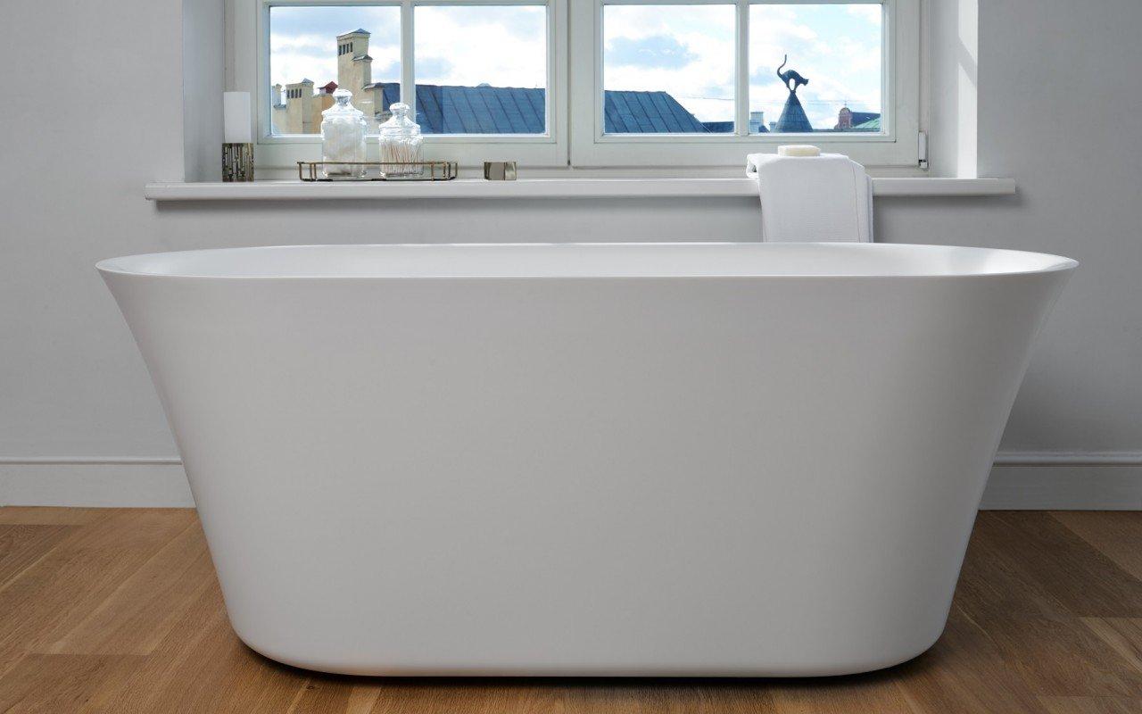 Aquatica Tulip-Grande-Wht™ Freestanding Solid Surface Bathtub picture № 0