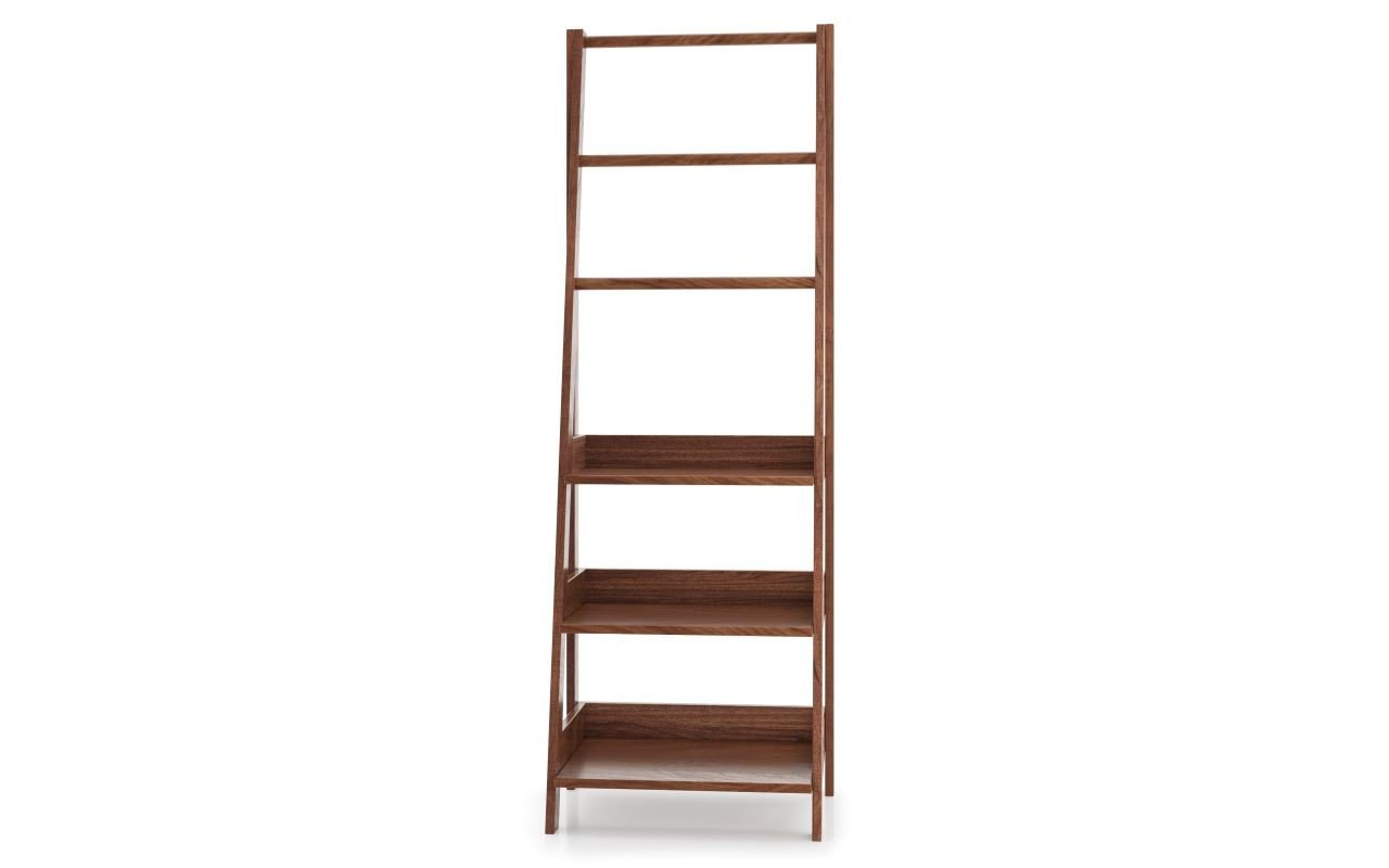 "Aquatica Universal 70.75"" Waterproof American Walnut Wood Bathroom Ladder Shelf picture № 0"