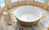 Aquatica adelina yellow gold wht round freestanding solid surface bathtub 04 (web)