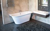 Inflection B L Corner Cast Stone​ Bathtub by Aquatica web 13 2