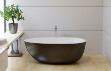 Aquatica Spoon 2 Egg Shaped Black Wht Solid Surface Bathtub (web) 02