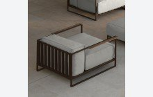 Casilda living corner garden armchair mokka and white beige cushions (web)