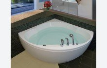 Cleopatra Corner Acrylic Bathtub by Aquatica web 1