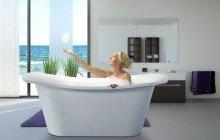 LoveMe White Stone Bathtub 1200 1800