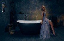 Purescape 748M Blck Wht Solid Surface Bathtub 01 (web)