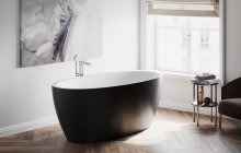 Sensuality Back wht freestanding oval solid surface bathtub by Aquatica (5) Copy