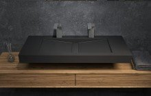 Aquatica Millennium 120 Blck Stone Bathroom Sink 01 (web)