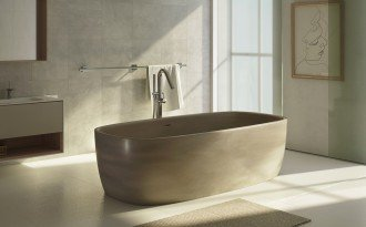 Aquatica coletta concrete freestanding solid surface bathtub 05