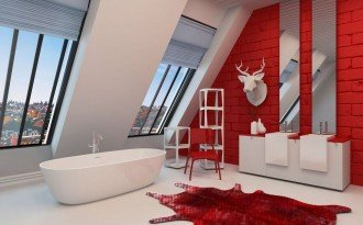 red bathrooms 2