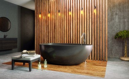 Spoon 2 Black Freestanding Solid Surface Bathtub web (1)