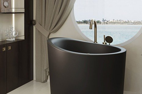 True Ofuro Mini Black Tranquility Heated Japanese Bathtub 220 240V 50 60Hz 08