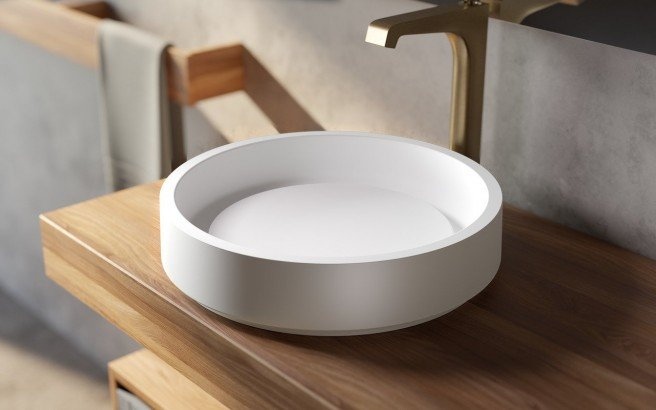 Aquatica Solace A Wht Round Stone Bathroom Vessel Sink with Decorative Drain Cover 01 (web)