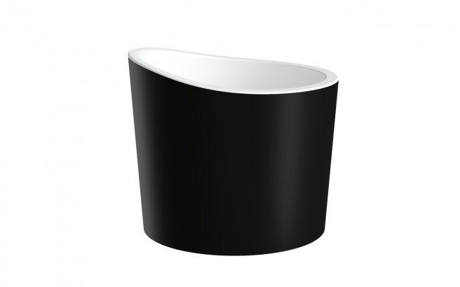 Aquatica True Ofuro Mini Blck Wht Freestanding Stone Japanese Soaking Bathtub 01 (web)