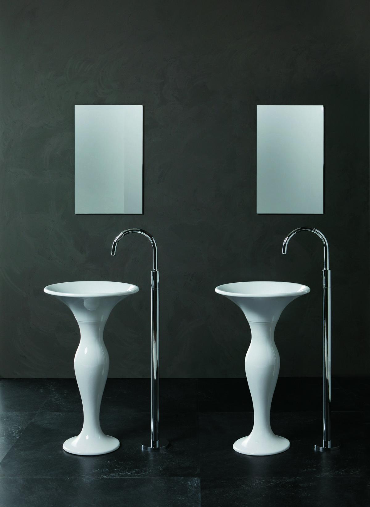 lavabo rond autoportant sur colonne formosa. Black Bedroom Furniture Sets. Home Design Ideas