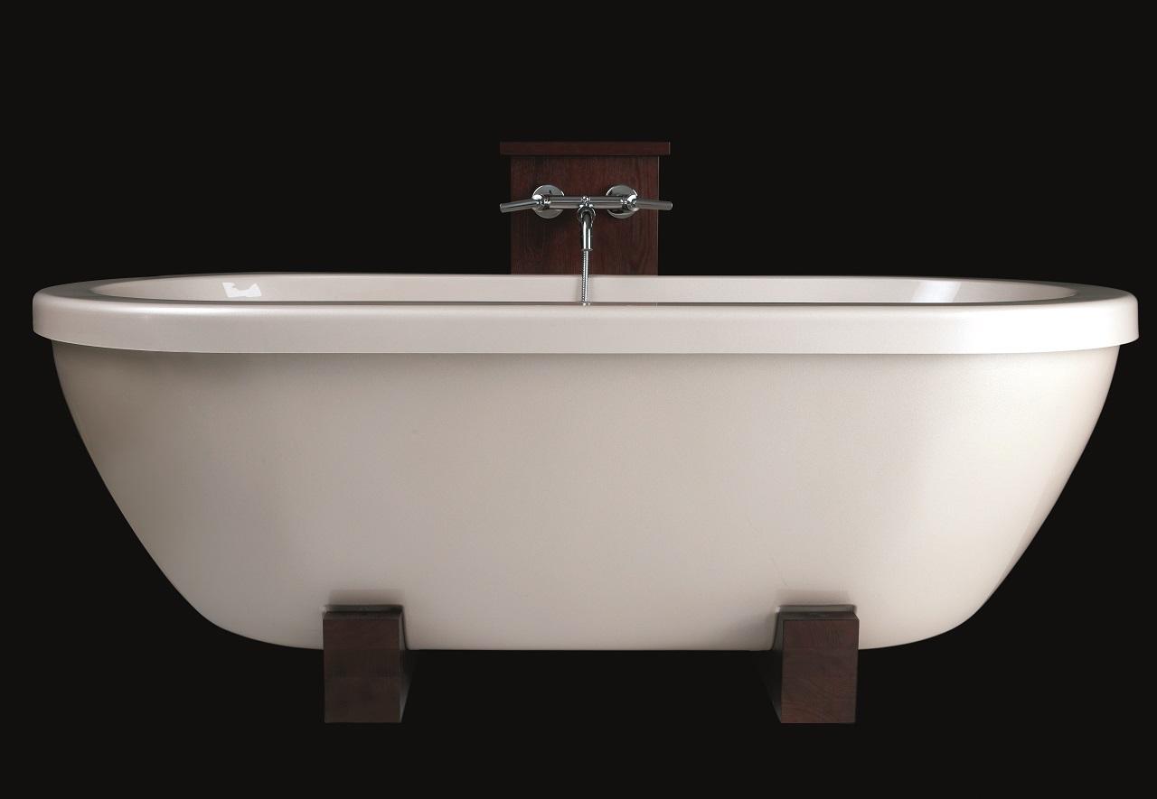 Baignoire autoportante l g re adoreme en pierre par aquatica for Prix baignoire en pierre