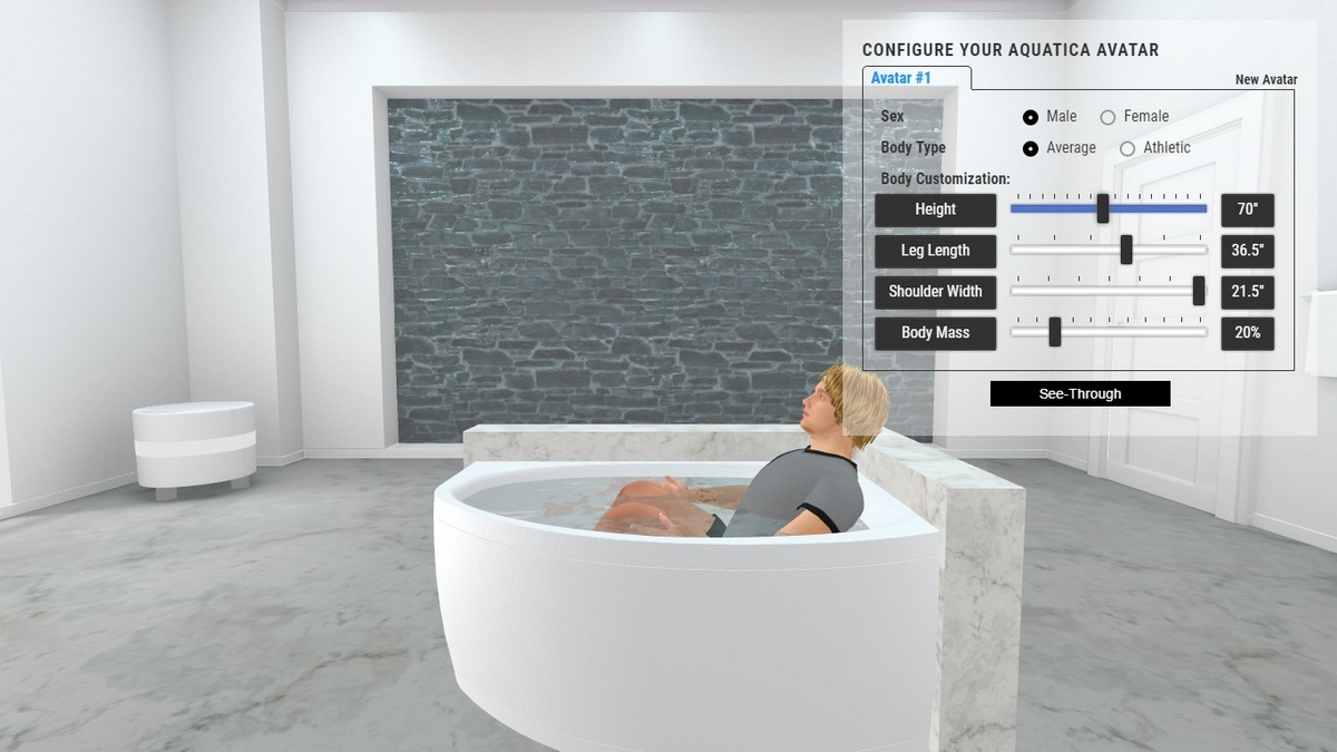 Anette A Bathtub 3D Body Position