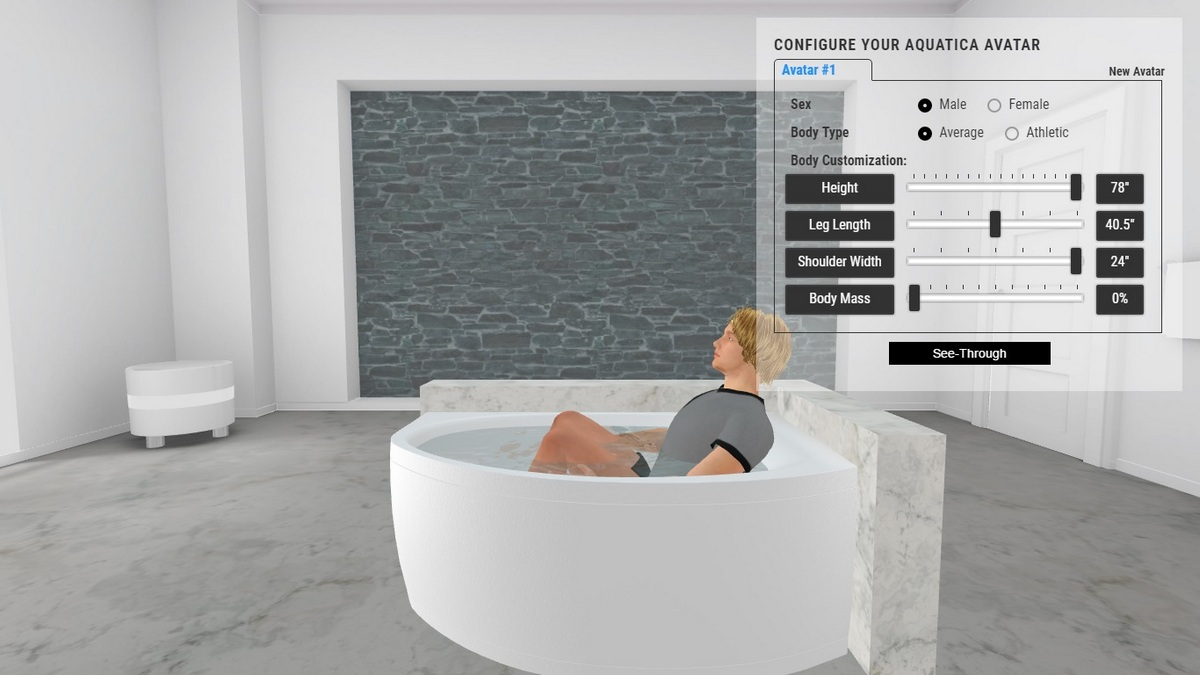 Anette B Bathtub 3D Body Position