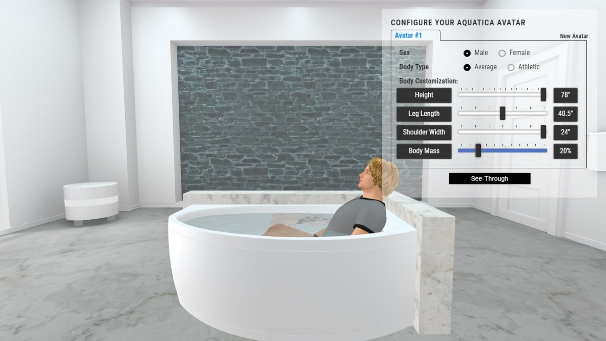 Anette C Bathtub 3D Body Position