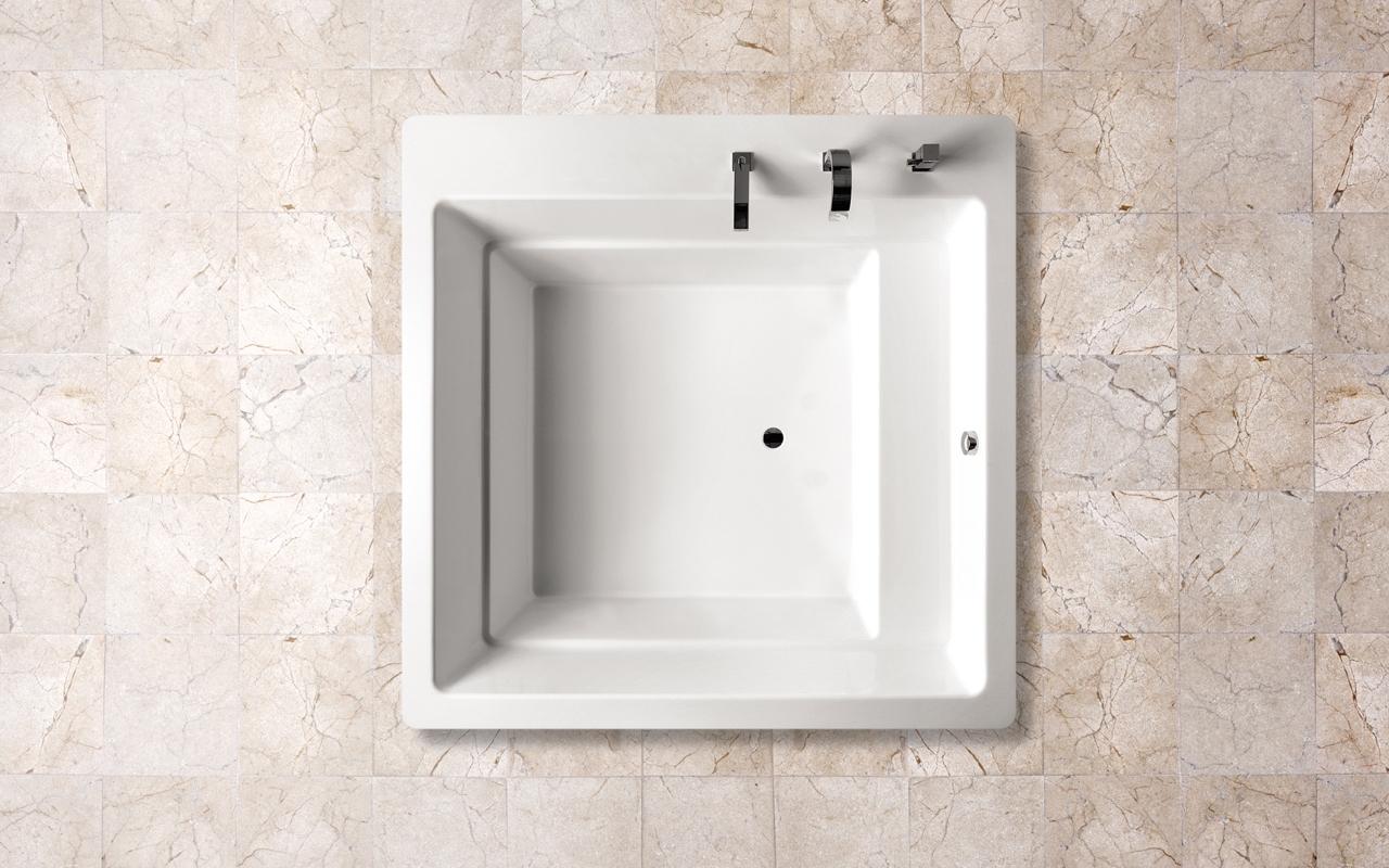 Lacus par aquatica baignoire encastr e en acrylique for Baignoire encastree
