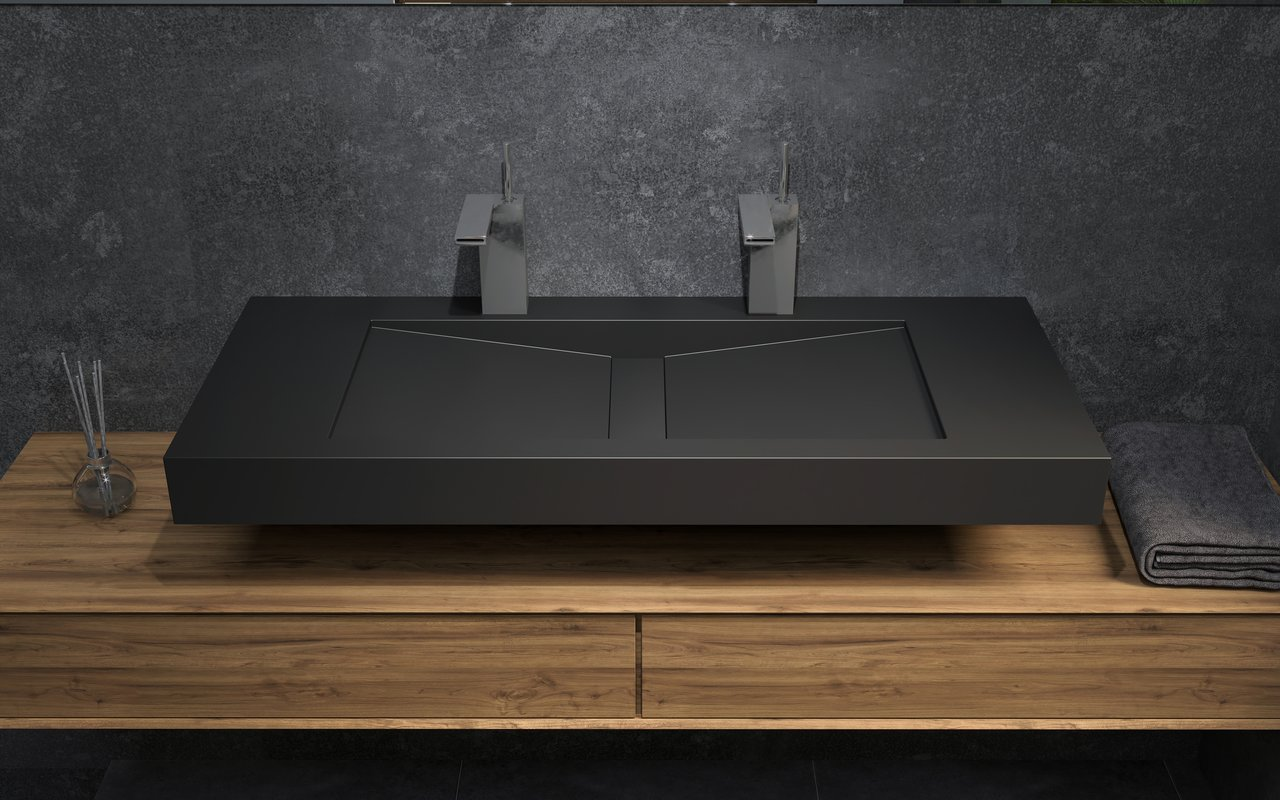 Aquatica Millennium 120 Blck Stone Bathroom Sink 01 (web)