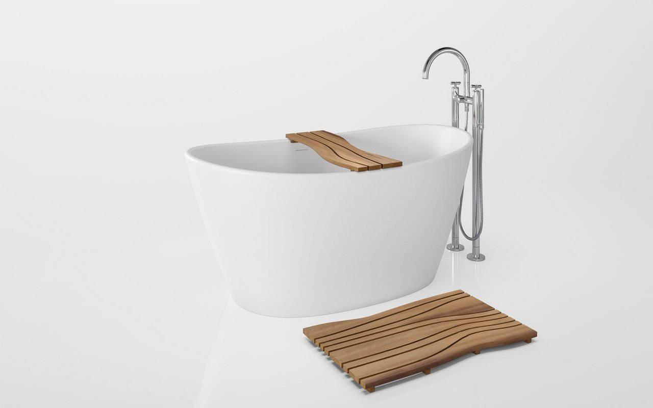 Aquatica Onde Waterproof Iroko Wood Bathtub Tray 01 (web)