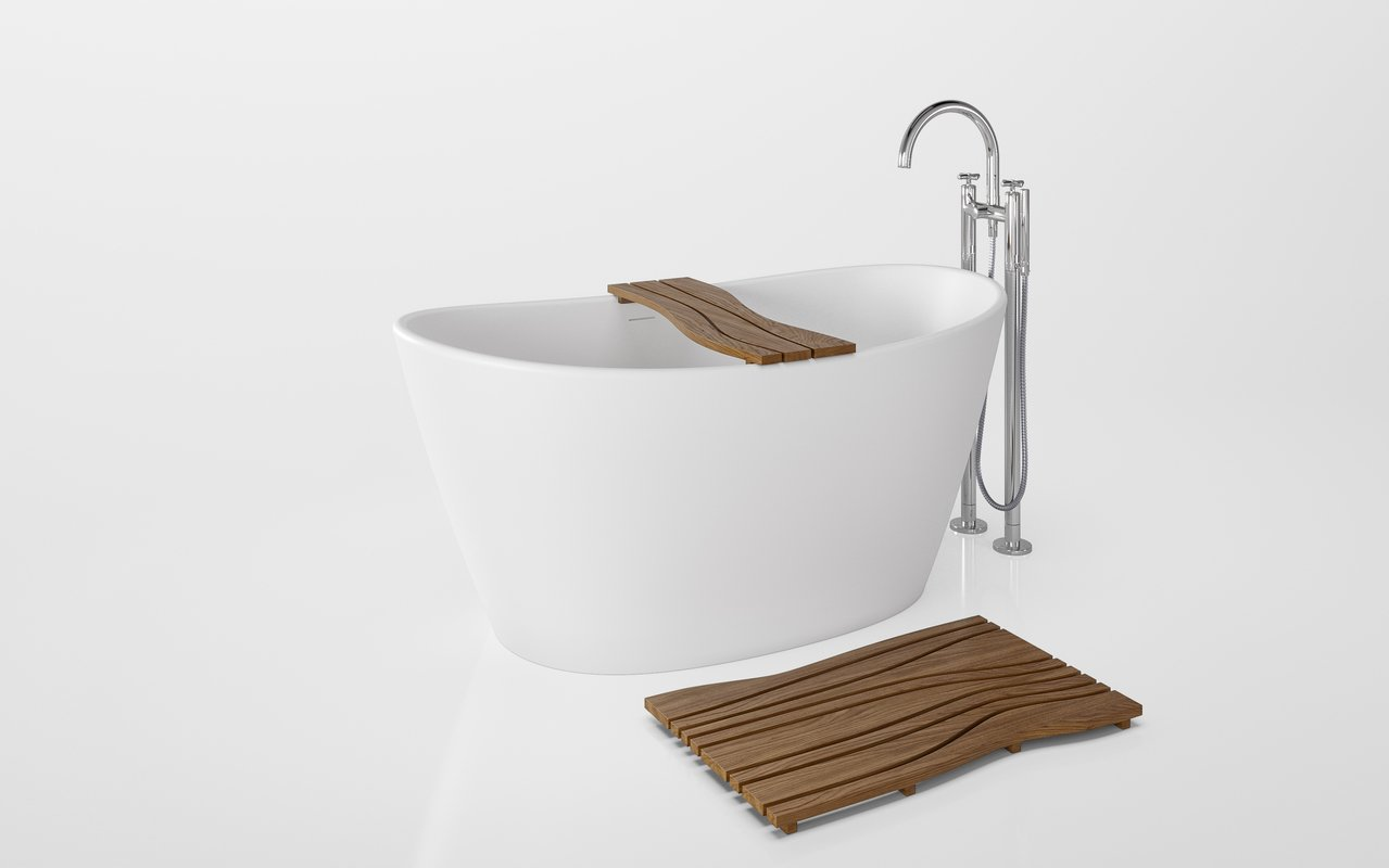 Aquatica Onde Waterproof Teak Wood Bathtub Tray 02 (web)
