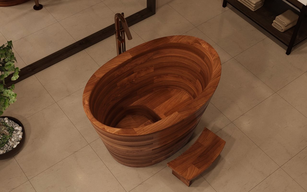 Aquatica TrueOfuro American Walnut Freestanding Wood Bathtub 3 (web)