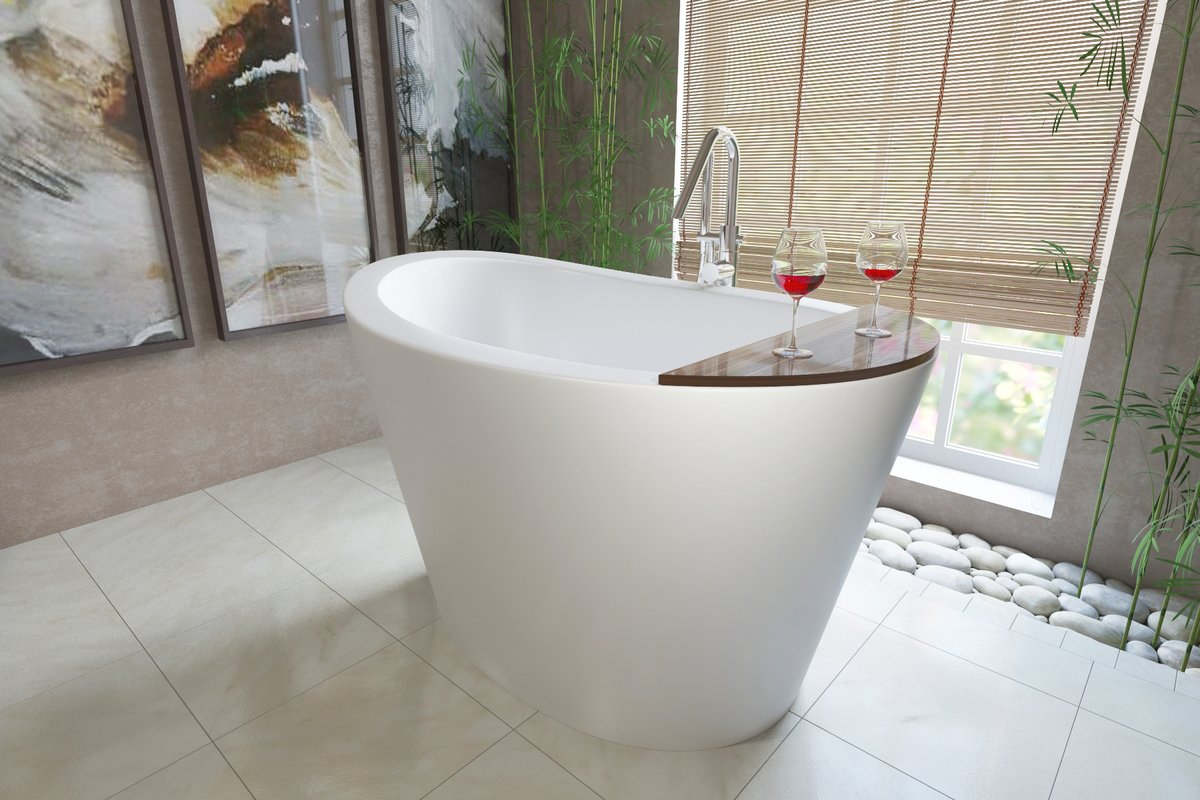 web soak avalon concrete in slate trails tub bathtub finish soaking freestanding inch native