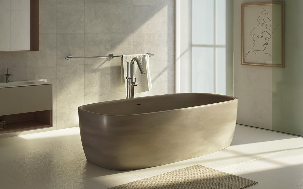 coletta sandstn par aquatica baignoire autoportante en pierre aquatex. Black Bedroom Furniture Sets. Home Design Ideas