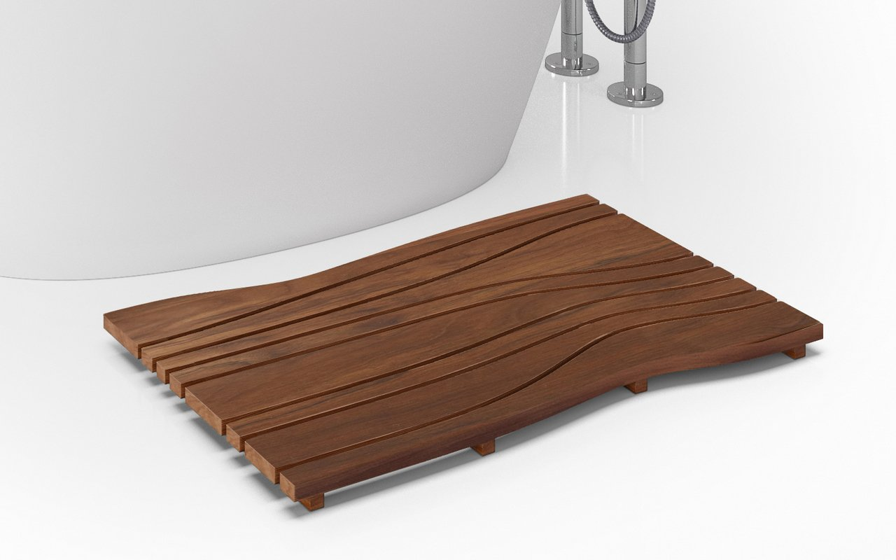 Aquatica onde waterproof iroko wood floor mat 03 (web)