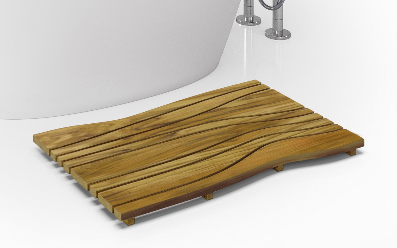 Aquatica onde waterproof teak wood floor mat 04 1 (web)