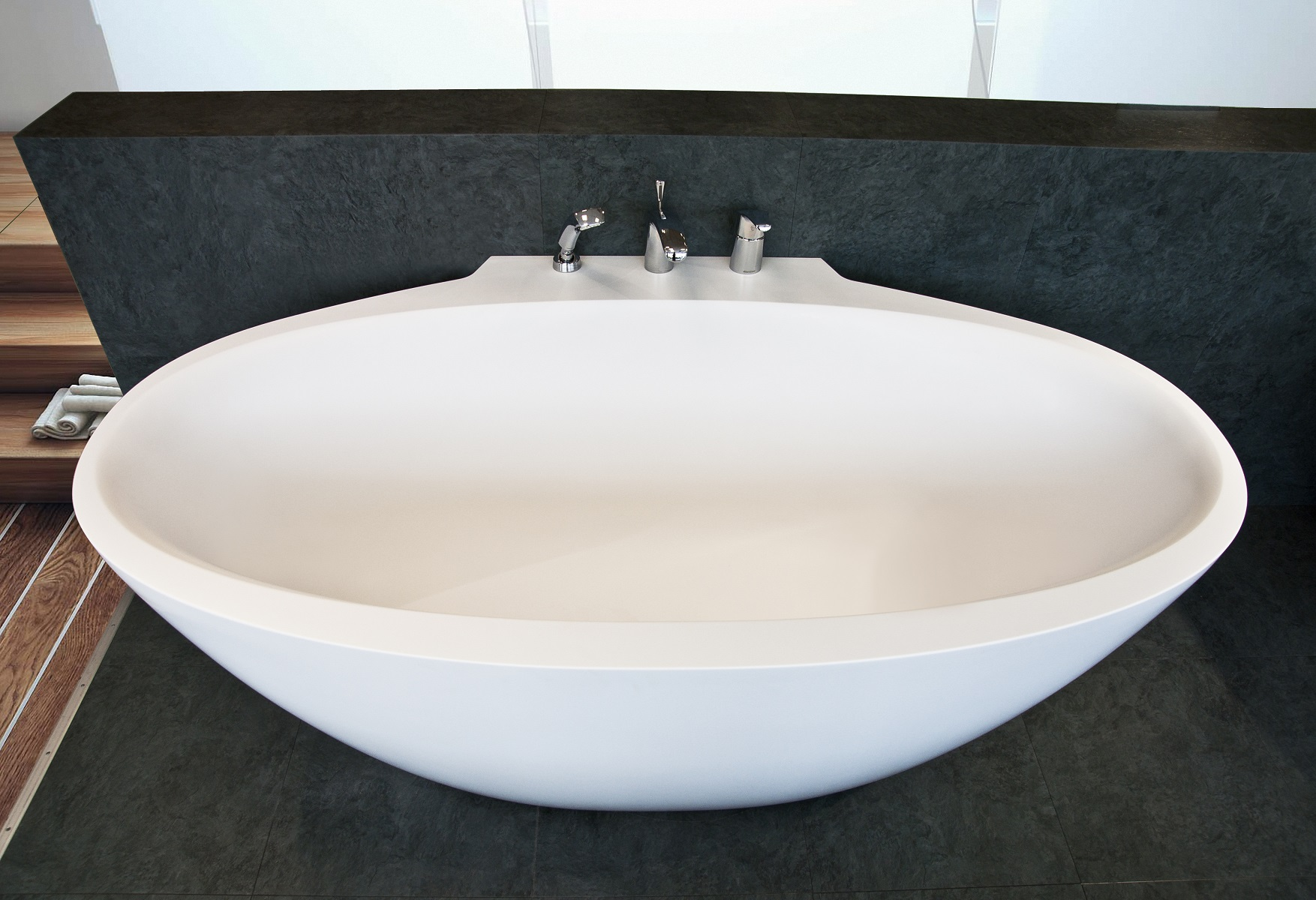 Aquatica sensuality mini wall back to wall solid surface bathtub 5 web
