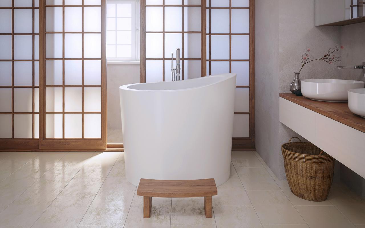 Aquatica True Ofuro Mini Baignoire Japonaise Chauffee Tranquillite