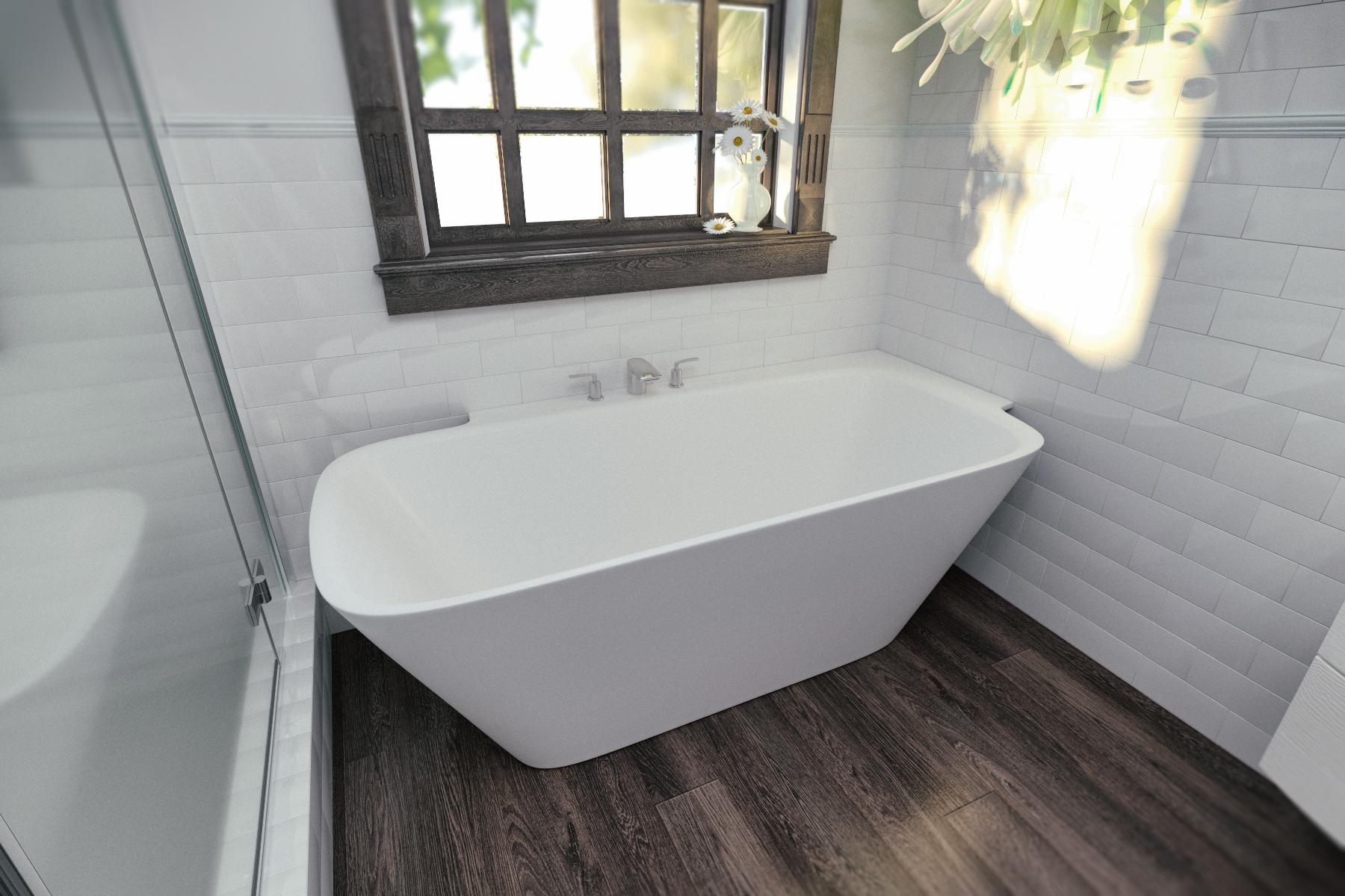 Arabella L Wht Corner Solid Surface Bathtub (3)