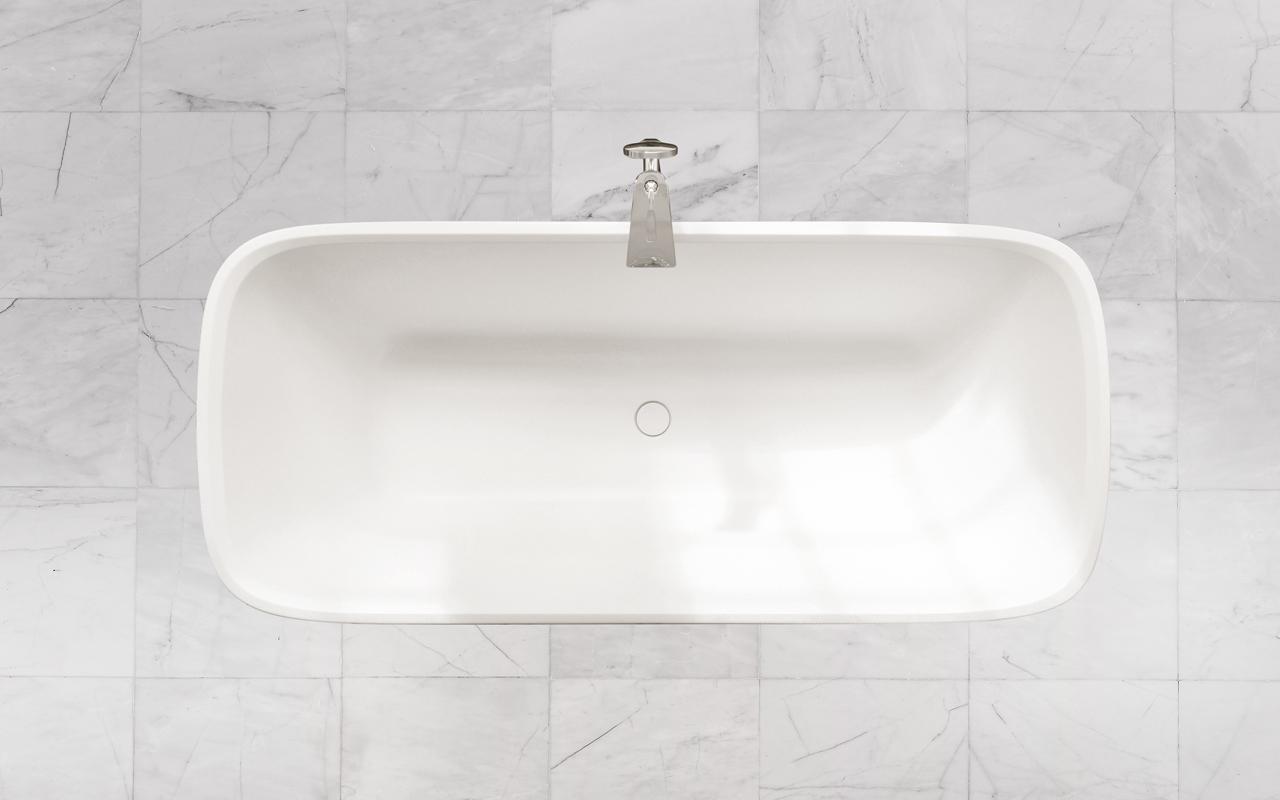 Arabella par aquatica baignoire autoportante en pierre for Prix baignoire en pierre