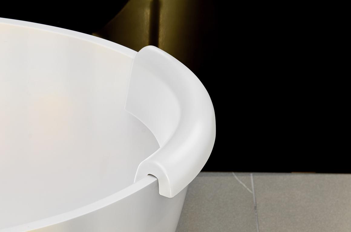 Repose t te pour baignoire b atrice d aquatica blanche - Repose tete baignoire ...