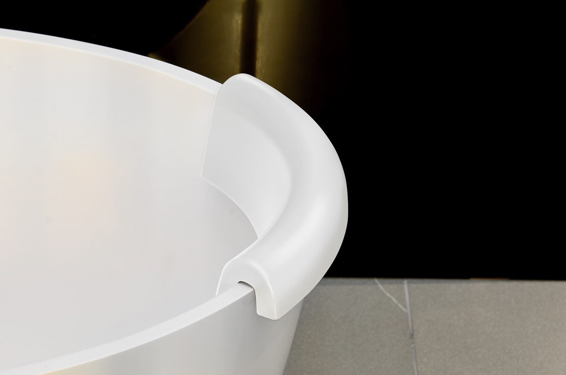 repose t te pour baignoire b atrice d aquatica blanche. Black Bedroom Furniture Sets. Home Design Ideas