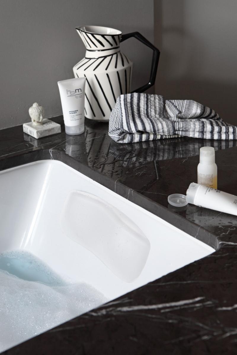 Repose t te pour baignoire vanilla d aquatica blanche - Repose tete baignoire ...