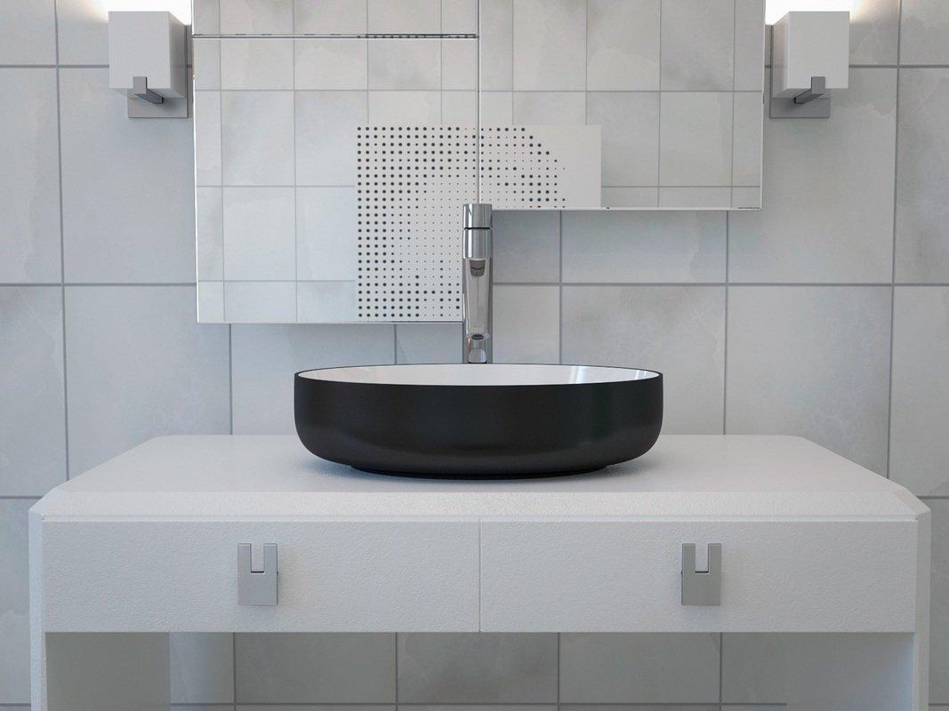 metamorfosi vier ovale de salle de bain en c ramique ext rieur noir int rieur blanc. Black Bedroom Furniture Sets. Home Design Ideas