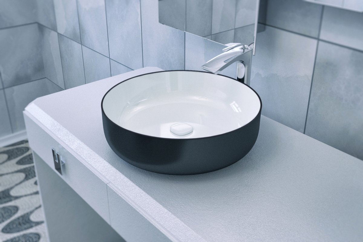 Metamorfosi Black Wht Round Ceramic Vessel Sink 01 (web)