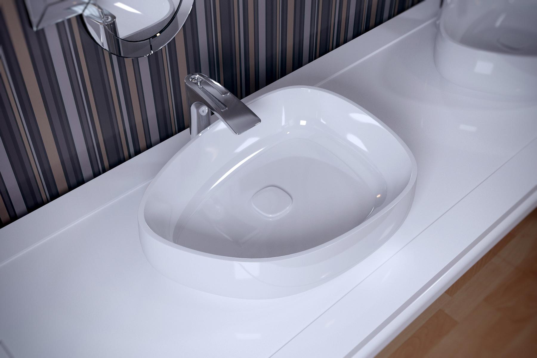Metamorfosi Wht Shapeless Ceramic Bathroom Vessel Sink (2)