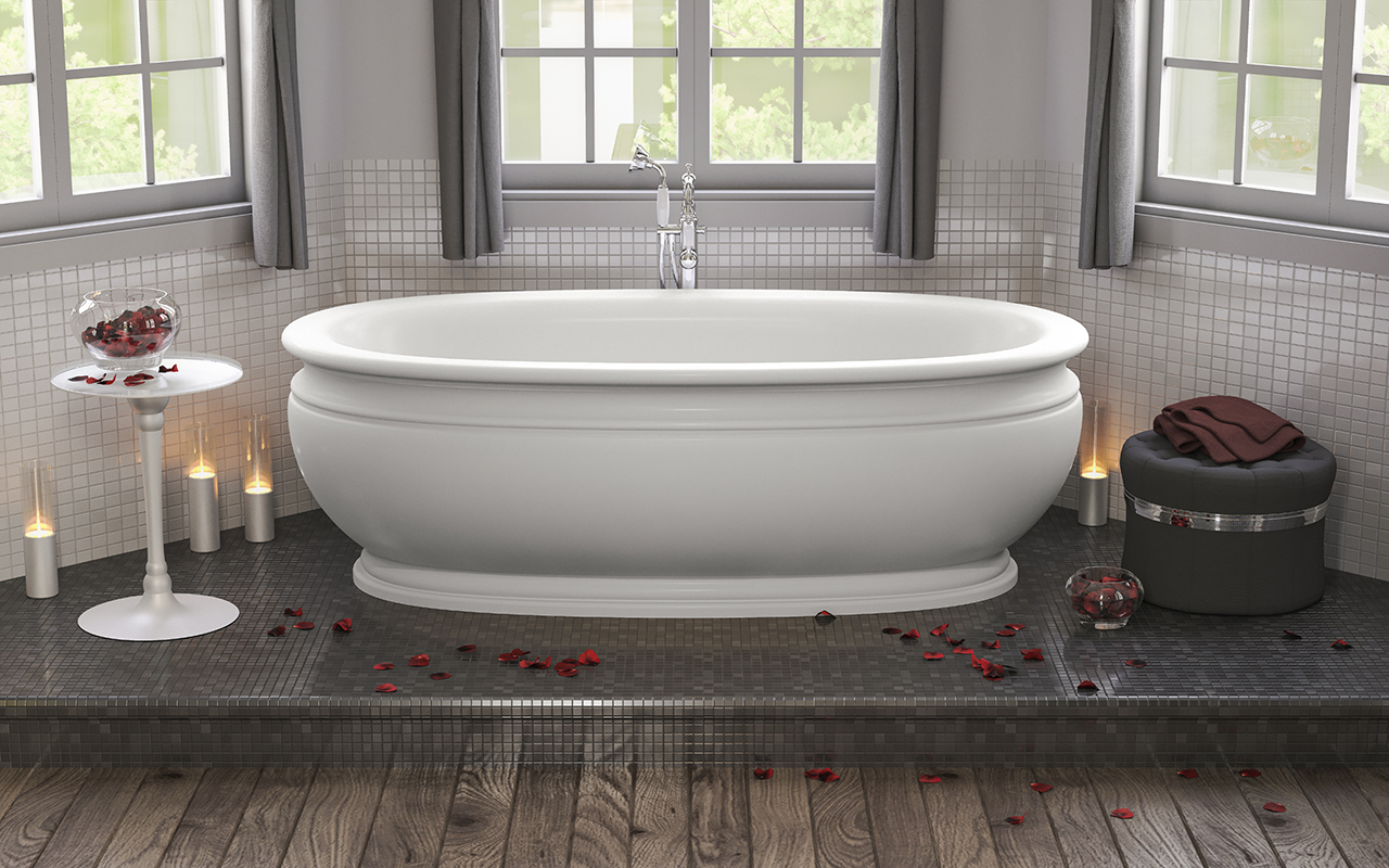 olympian™ by savio roman freestanding solid surface bathtub - as its name suggests the stunning freestanding olympian from aquatica isinspired by the classical grandeur of the roman empire