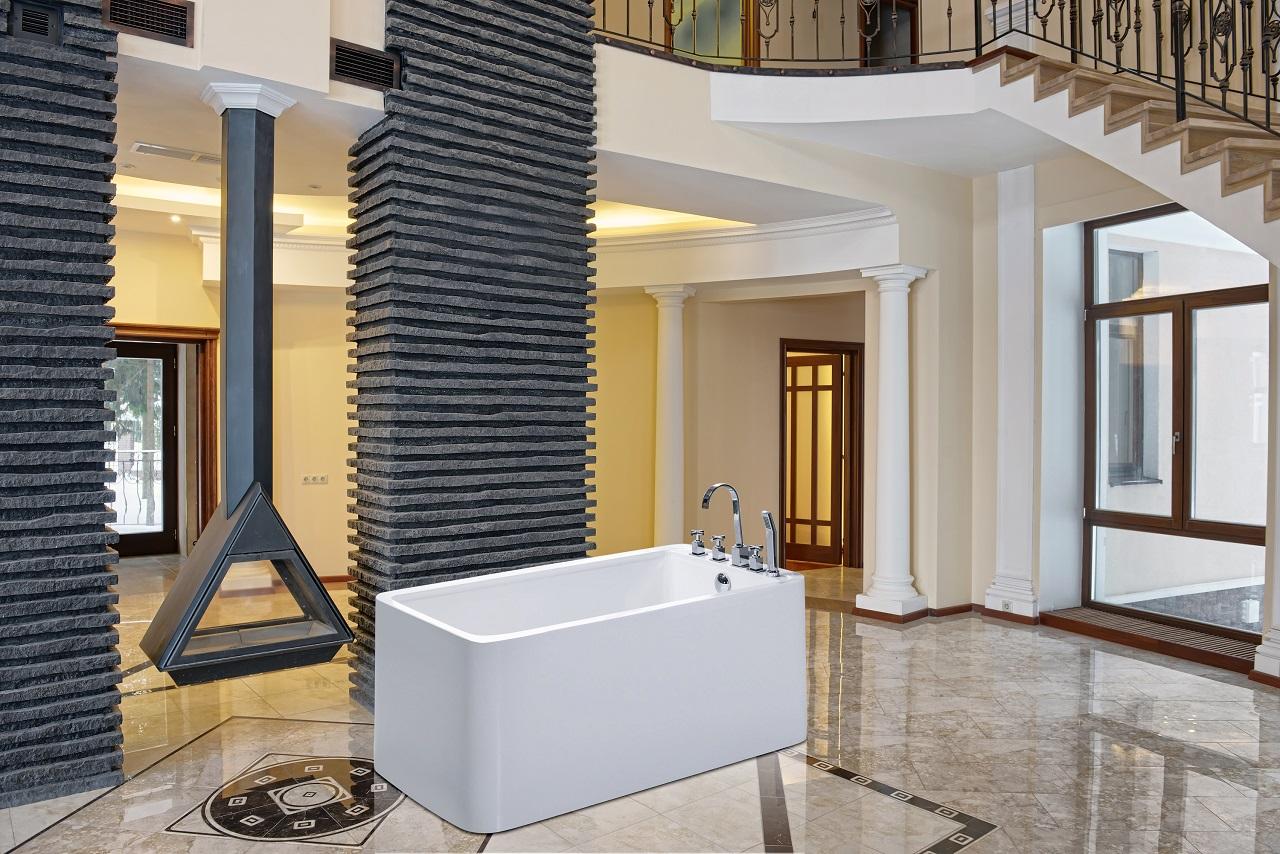 PureScape 327 Freestanding Acrylic Bathtub by Aquatica web 4