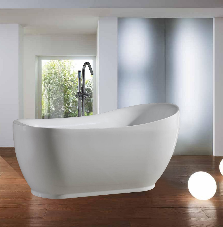Freestanding slipper bathtub from acryl-purescape-036 | Aquatica ...