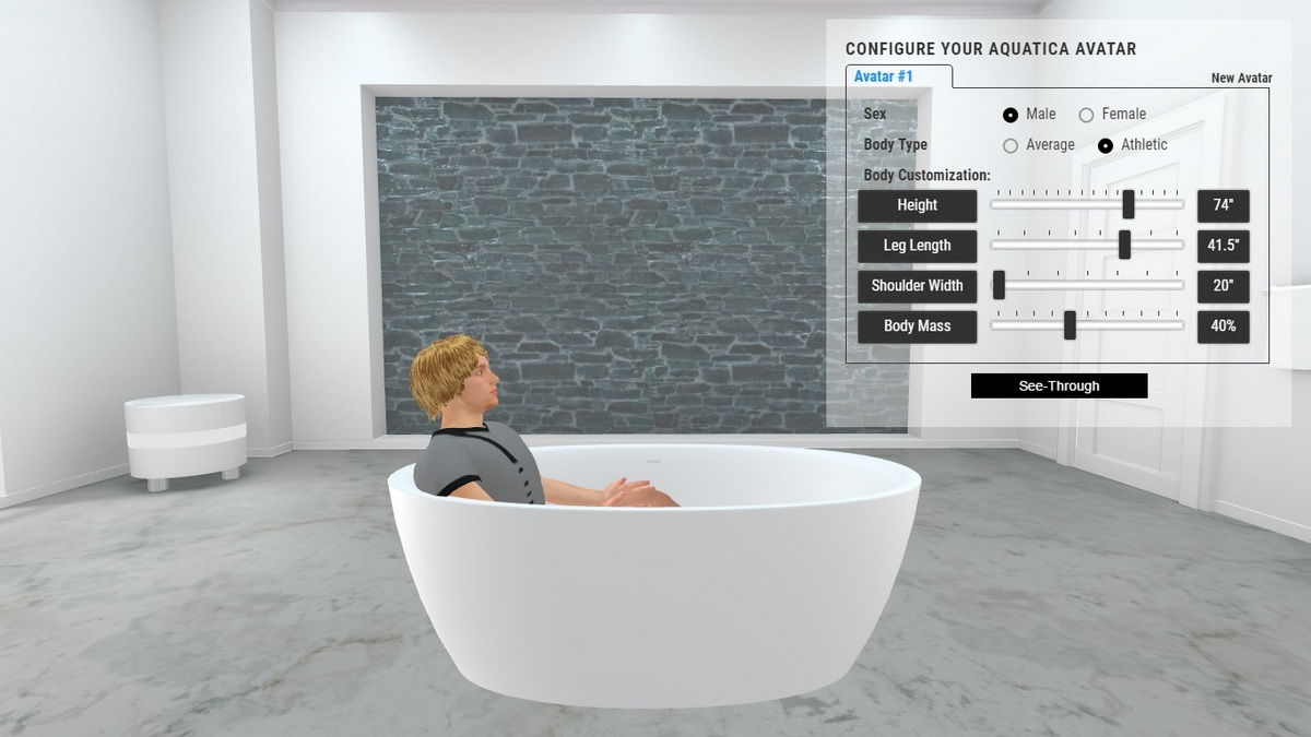 Sensuality Bathtub 3D Body Position