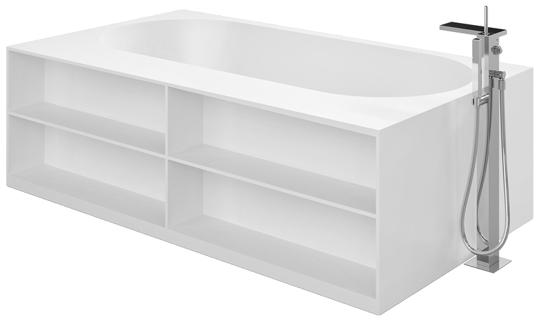 Storage lovers freestanding solid surface bathtub front (web)