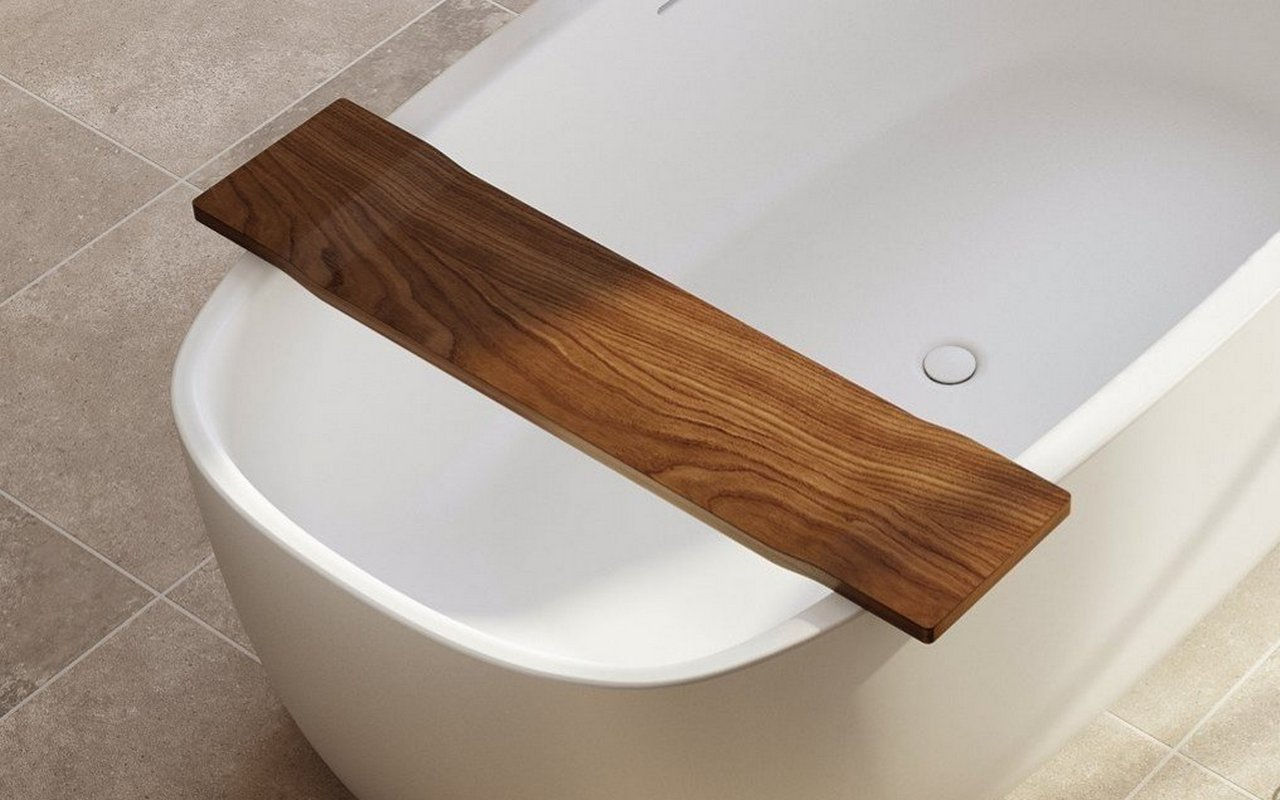Tidal Waterproof Iroko Bathtub Tray (web)