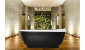 Aquatica Fido-Black™ Freestanding Solid Surface Bathtub